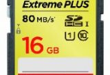 SanDisk Extreme Plus 80MB/s 16GB SDHC Class 10 UHS-I Memory Card (Zin)